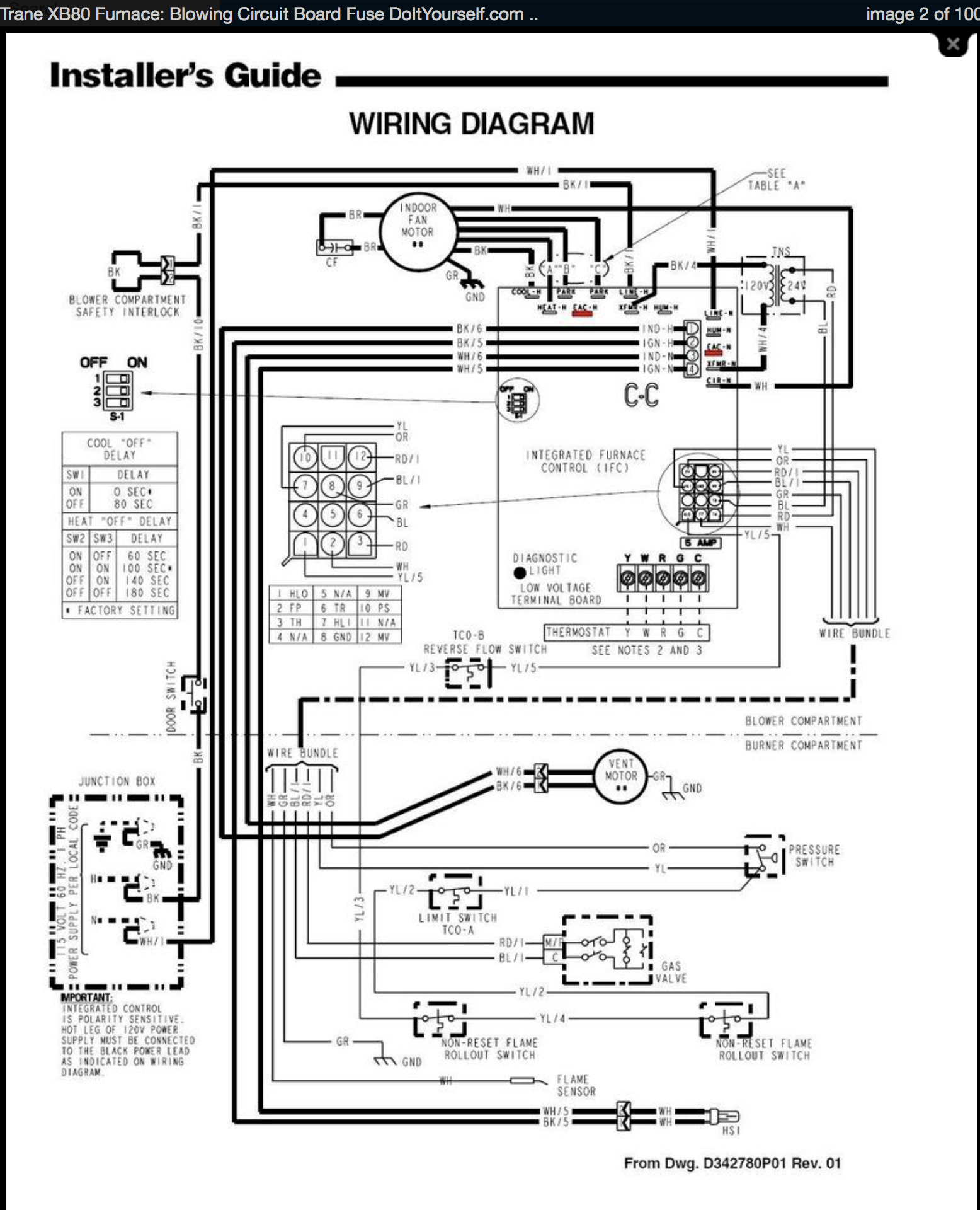 trane_xb80_diagram Ycd C M Ac Wiring Diagram Trane Model on